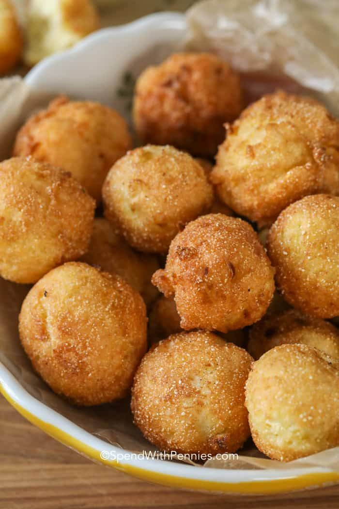 Hush puppies are comfort food heaven. What's better than