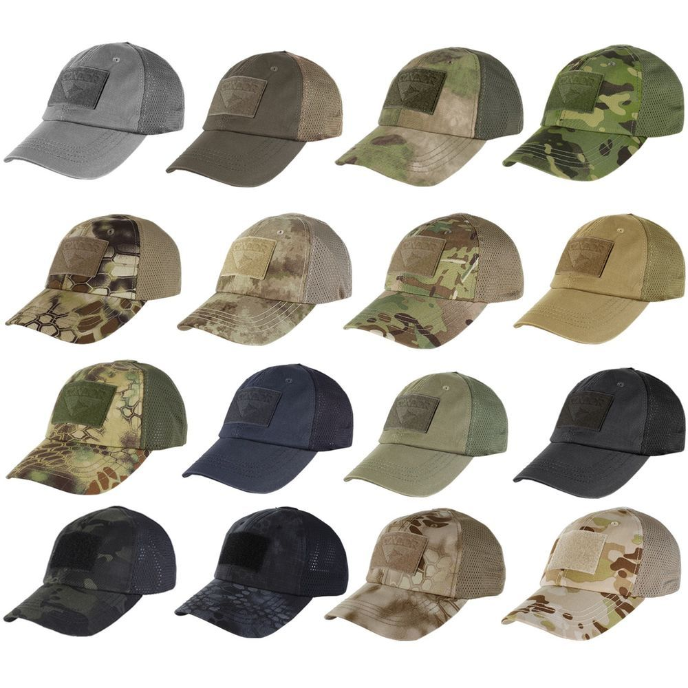 27277b28eb6 Condor Tactical Baseball Style Military Hunting Hiking Outdoor Mesh Cap Hat  TCM