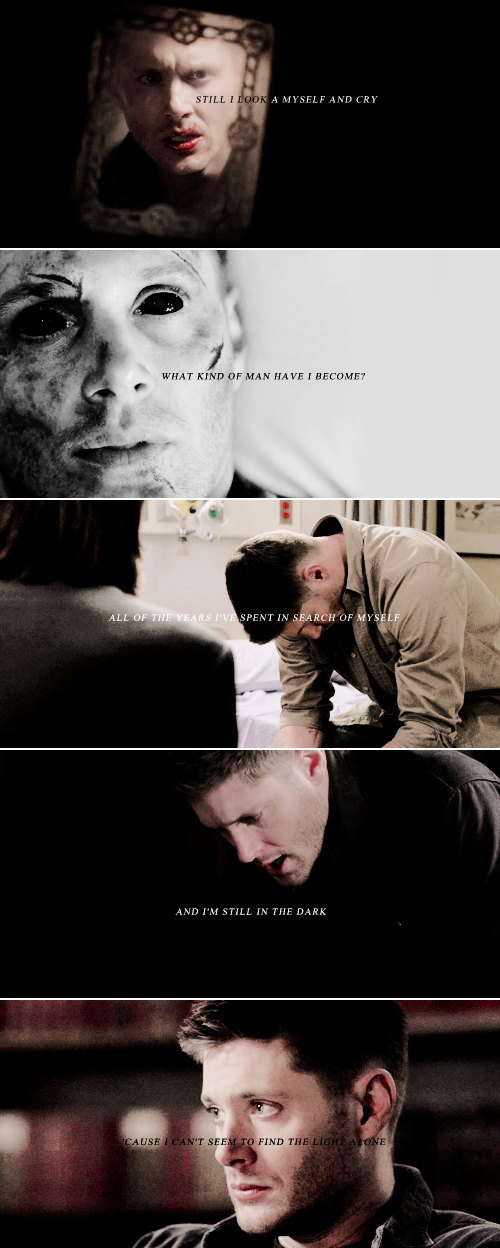 Dean Winchester: Sometimes I feel like a man in the wilderness I'm a lonely soldier off to war Sent away to die, never quite knowing why Sometimes it makes no sense at all #spn