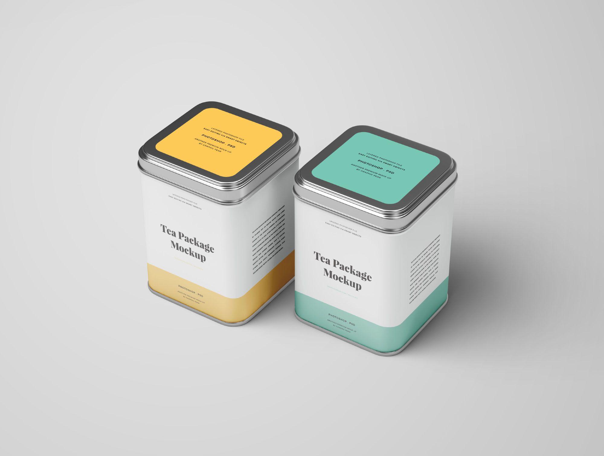 2 Tea Package Mockups Tea Packaging Mockup Photoshop Packaging