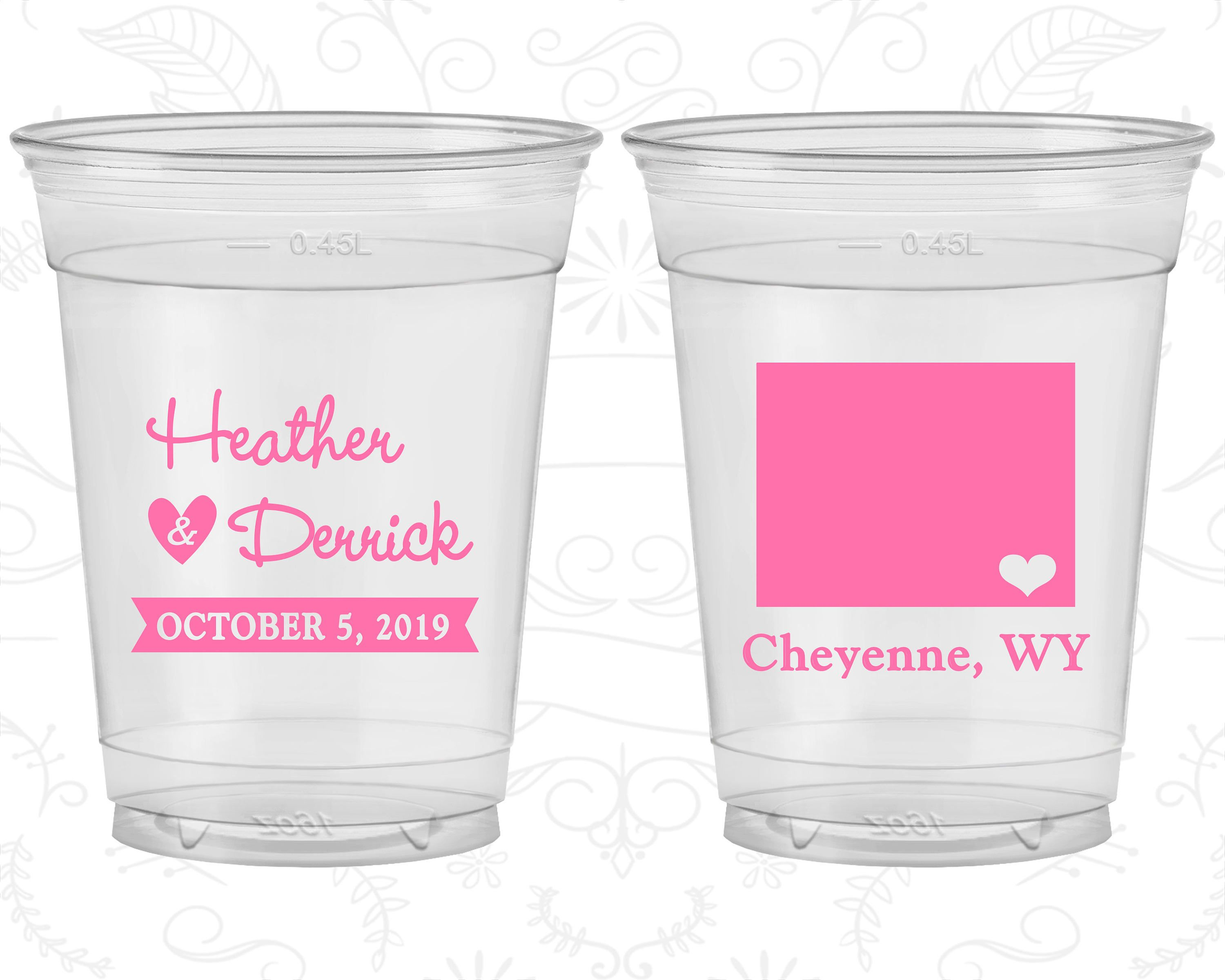 Wyoming Wedding, Wedding Favor Clear Cups, Destination Wedding ...