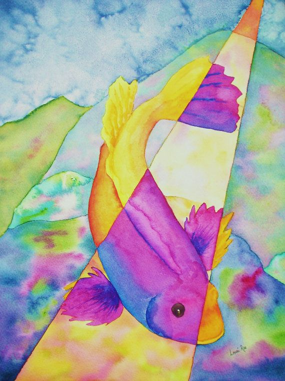 Hey, I found this really awesome Etsy listing at http://www.etsy.com/listing/163958548/mardi-gras-fish-koi-watercolor-painting