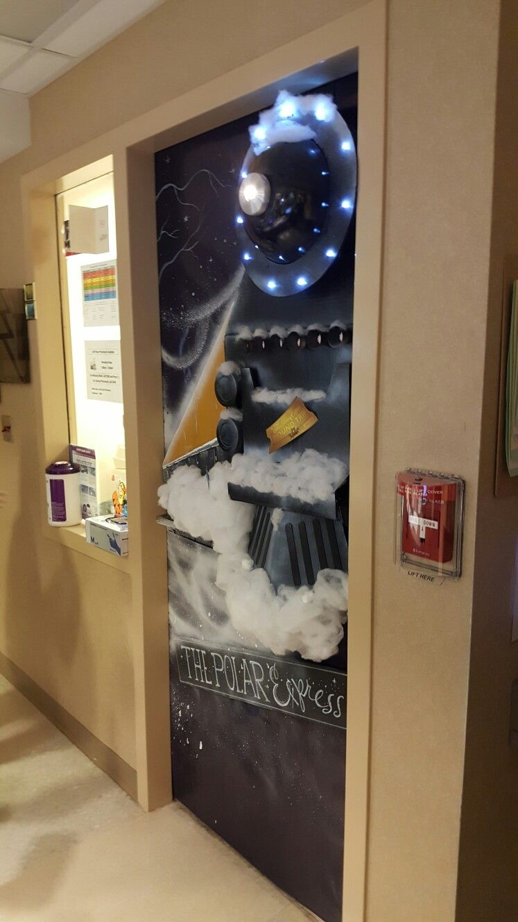 Polar Express door decorating contest. 2016