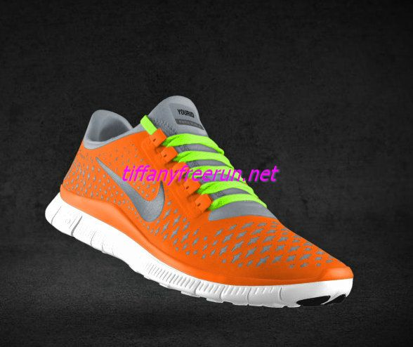 cheap for discount d73bb 867e2 Womens Nike Free 3.0 V4 Total Orange Reflective Silver Pro Platinum  Fluorescent Green Lace Shoes