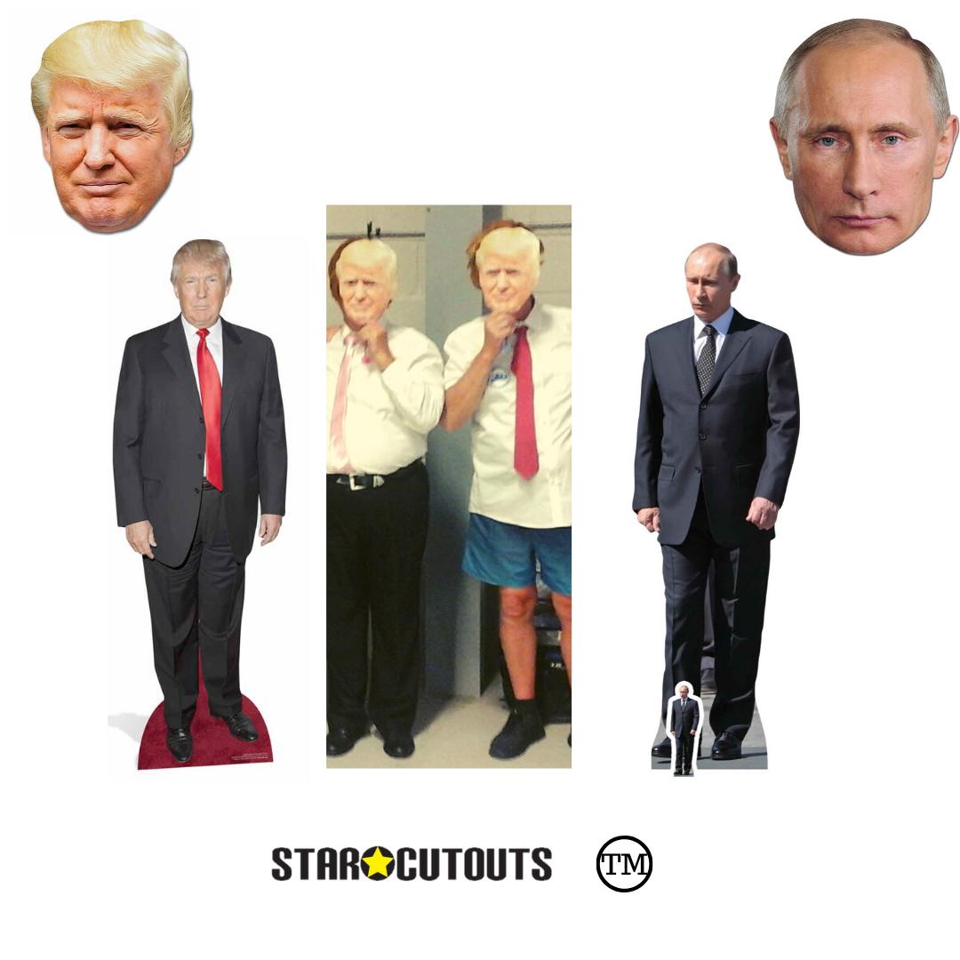 Donald Trump Cardboard Cutout Standee. mini size Suit