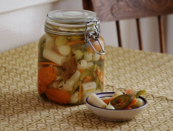 Escabeche (Spicy Picked Vegetables) - The Sage Owl - This recipe for pickled spicy vegetables is a staple in my parents' restaurant as well as their home. They are a fantastic addition to just about any savory meal, and they're also great on their own.