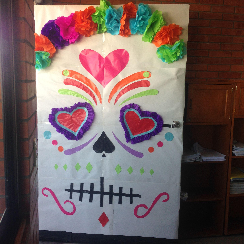 Puerta Día De Muertos Dia De Muertos Decoracion Dia De