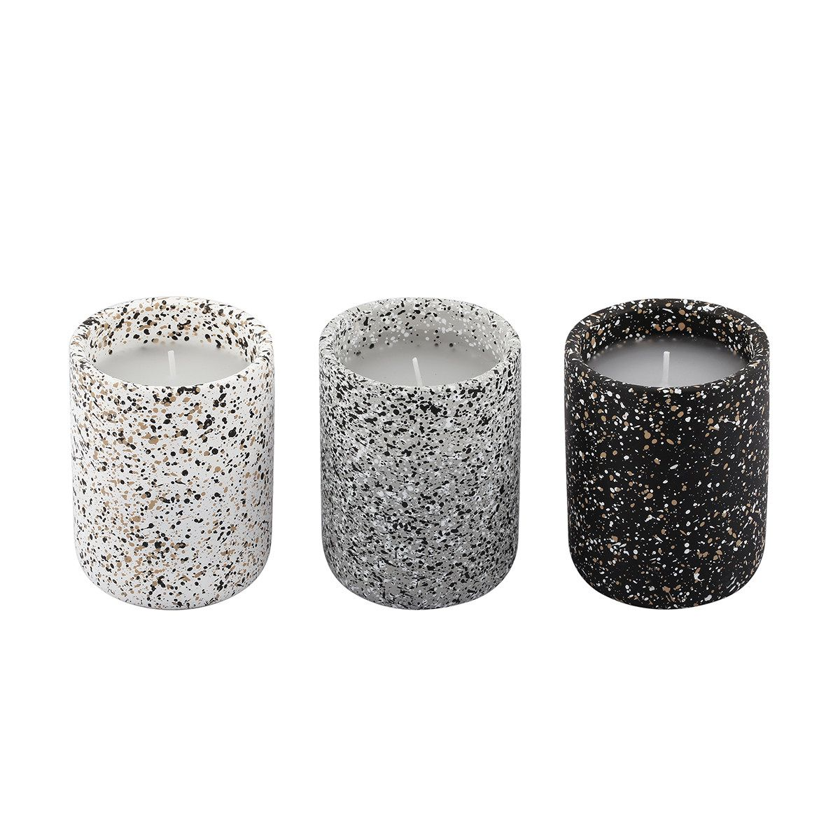 Set Of 3 Terrazzo Look Candles | Kmart | Interior Design Inspiration ...