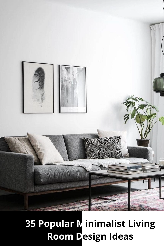 Photo of 35 Popular Minimalist Living Room Design Ideas