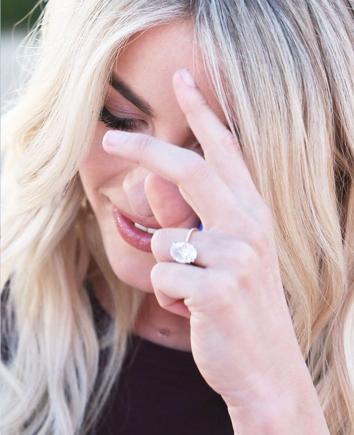 Julianne shows off her enormous engagement ring from fiancé Brooks