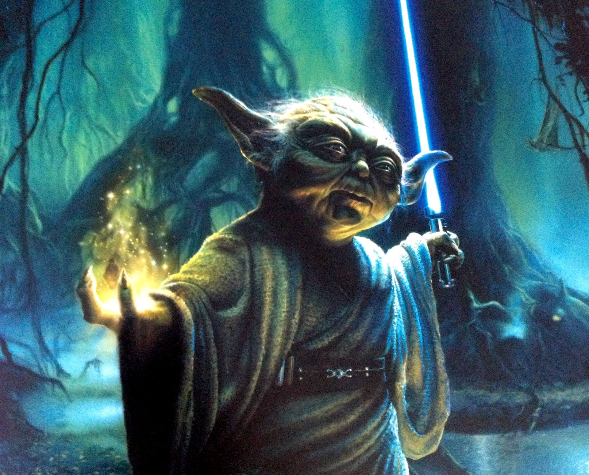 Star Wars Yoda Wallpaper Star Wars Attack Clones Sci Fi Action