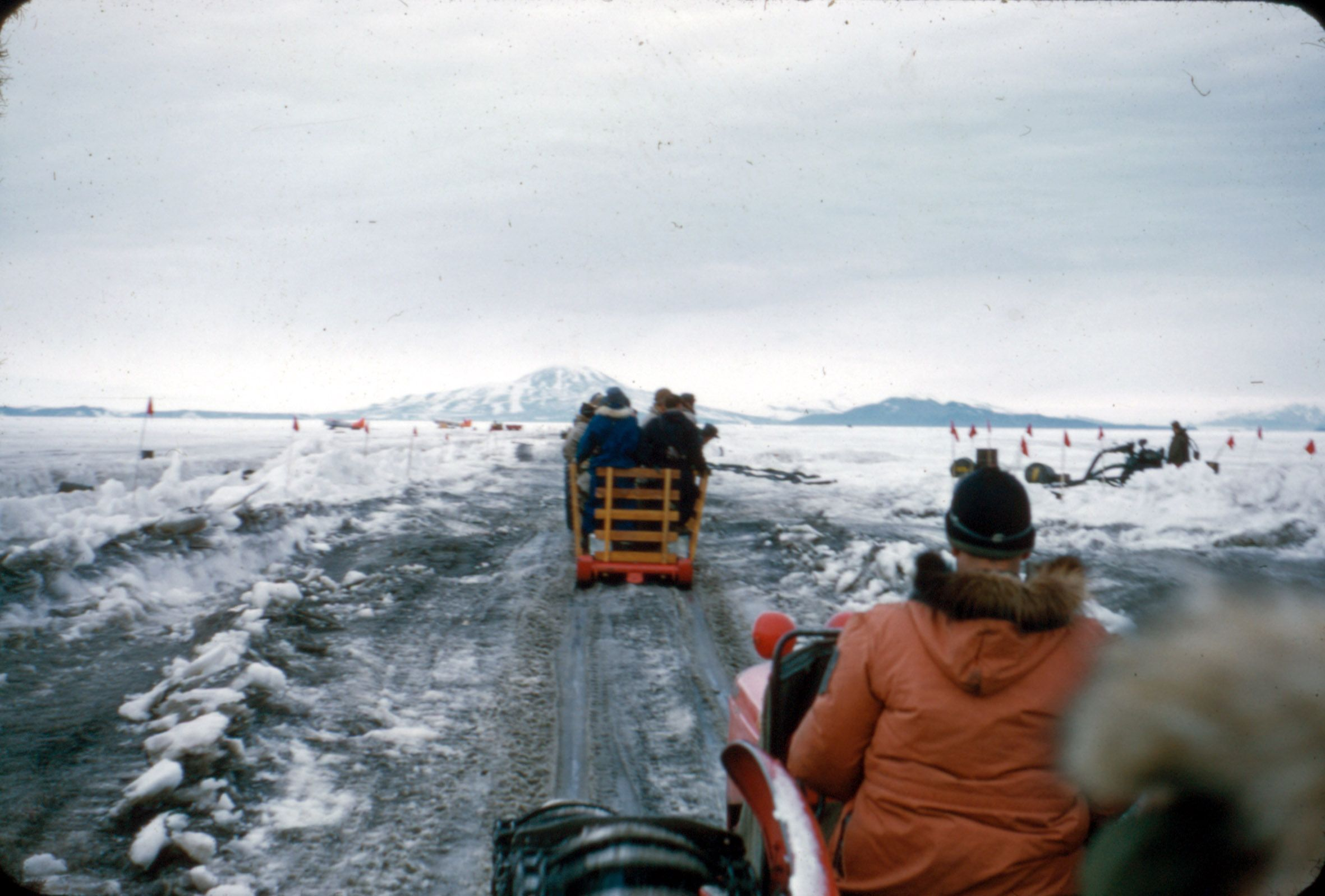 """Sir Edmund Hillary driving a tractor."" Taken by Alun"
