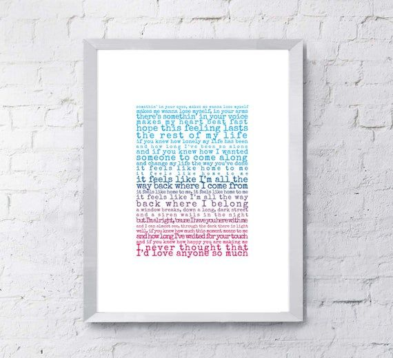 Feels Like Home Print, song lyrics print, Gift for husband, Gift for wife, song lyrics first dance anniversary gift, gift for him #excelwordaccessetc