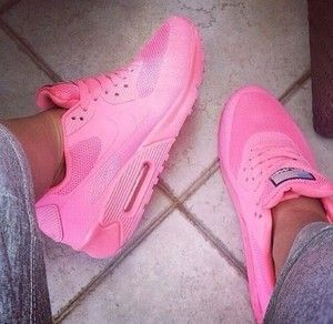 big sale b0ba7 5ed6a shoes airmax, neon, tidy, hyperfuse airmax, nike, pink, black, white,  hightops, high, tops, air, max, air max nike pink