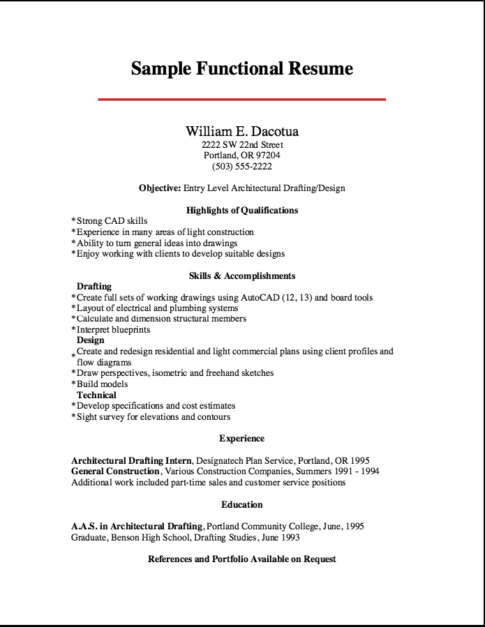2016 Resume Formats Drafter Free Resume Sample Resume Template Examples Cover Letter For Resume Functional Resume