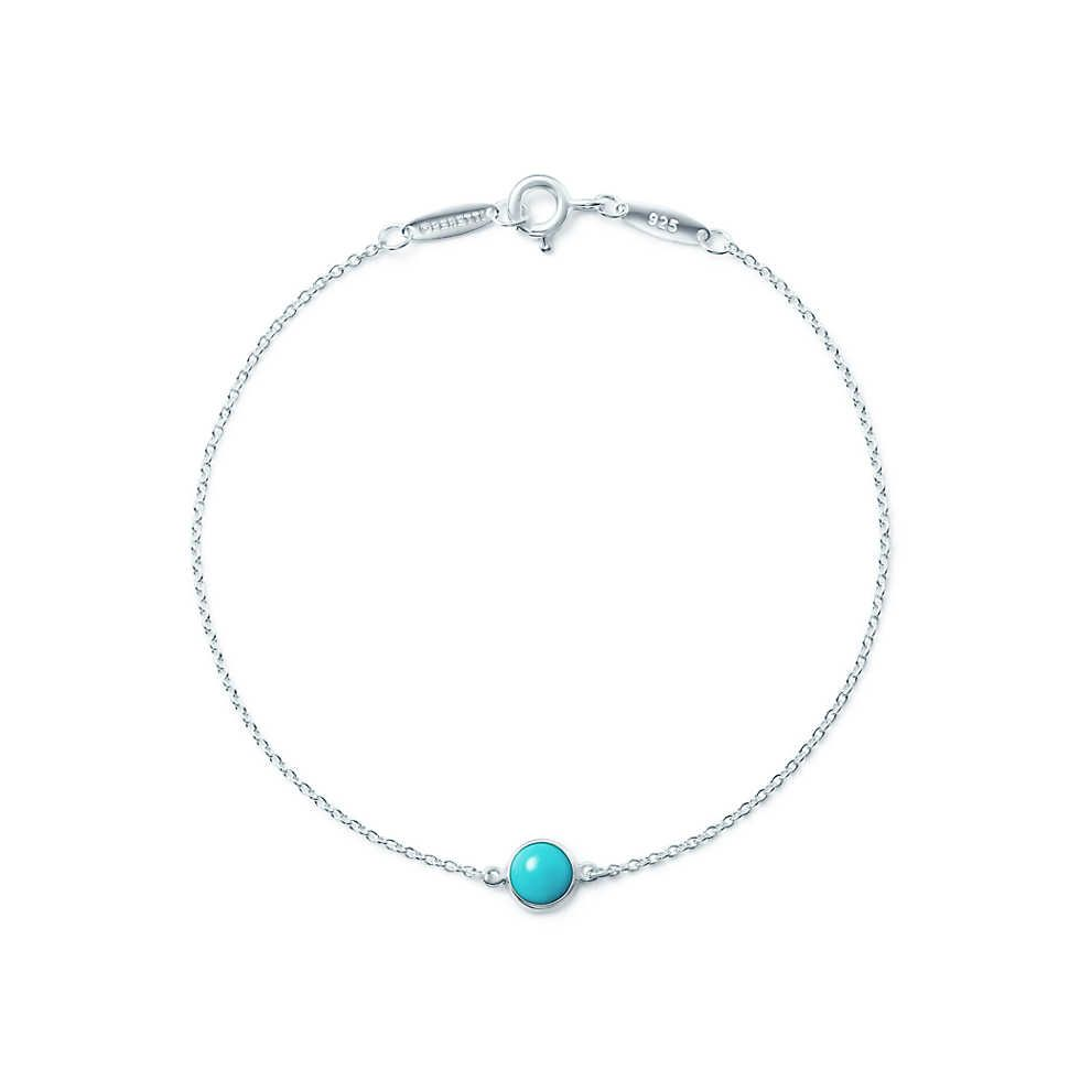 b5b8ff765 Timeless design for a special friend. // Elsa Peretti® Color by the Yard  bracelet in sterling silver with turquoise. | Tiffany & Co.
