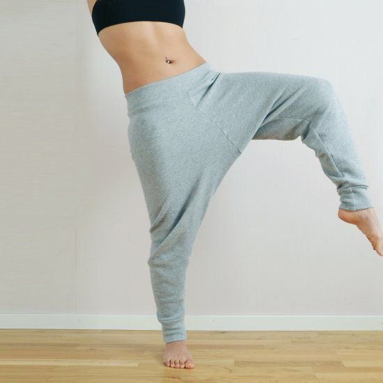 Make your own harem sweat pants with this tutorial using an existing pair  of short as
