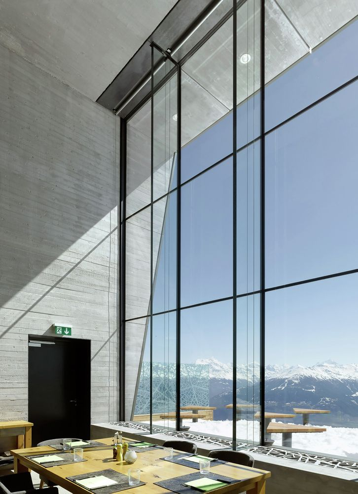 18 Modern Glass House Exterior Designs: Gallery Of Chetzeron Hotel / Actescollectifs Architectes