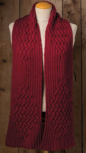 Knitting Pattern For Magic Of Reversible Cables Scarf Ad Easy