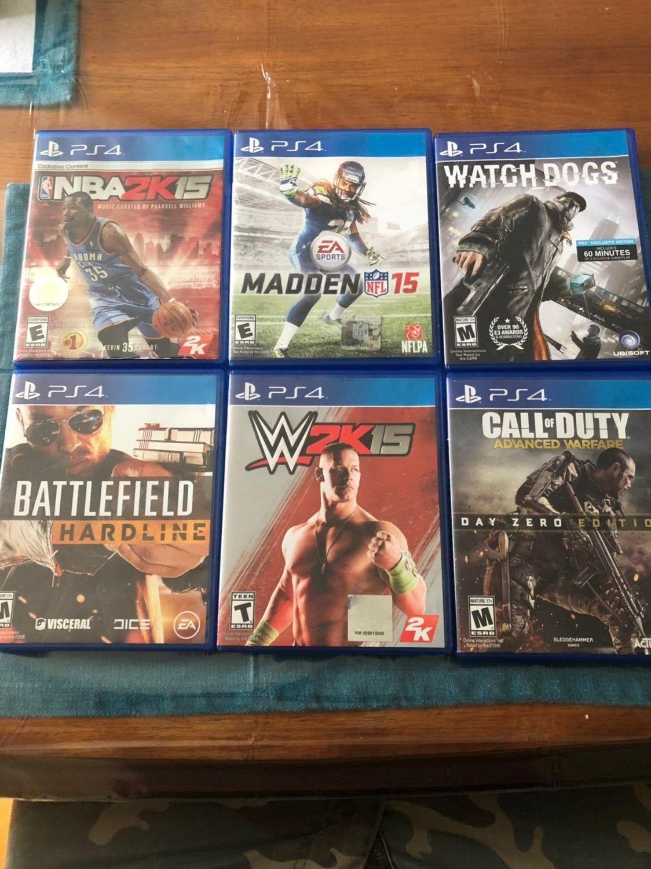 Six Games For The Playstaton 4 Battlefield Hardline Baseball Cards Sports
