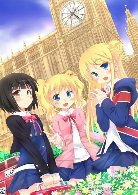 Shinobu Omiya , Alice Cartelet, Karen Kujo from Kiniro Mosaic