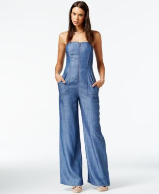 8cf65df391eba8 RACHEL Rachel Roy Wide-Leg Denim Jumpsuit
