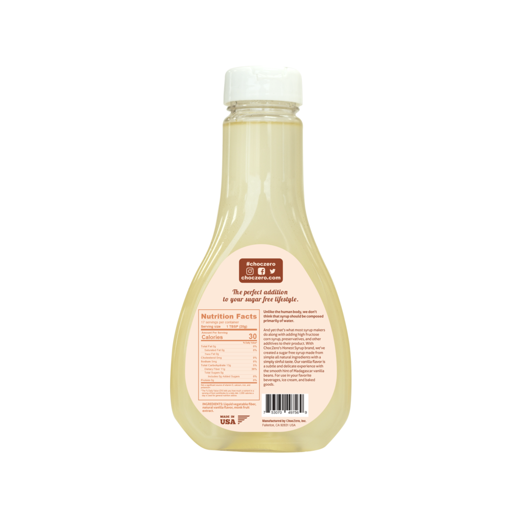 Sugar Free Vanilla Syrup - Low Carb (1g net carb), No Sugar, No