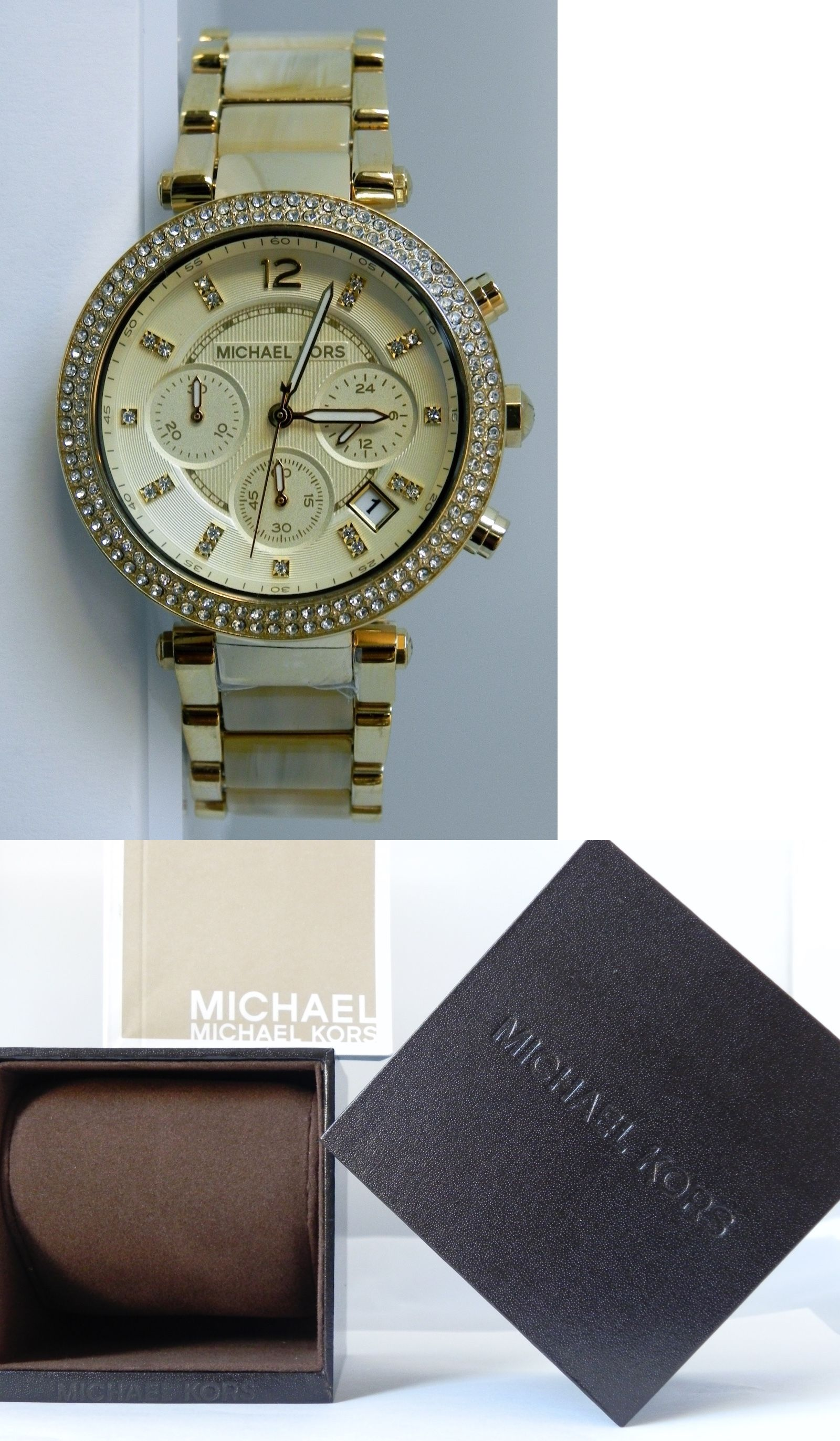 988b01e5b481 Parts and Accessories 51021  Michael Kors Women S Mk5632 Parker Chronograph  Champagne Dial 39 Mm Watch -  BUY IT NOW ONLY   295 on eBay!