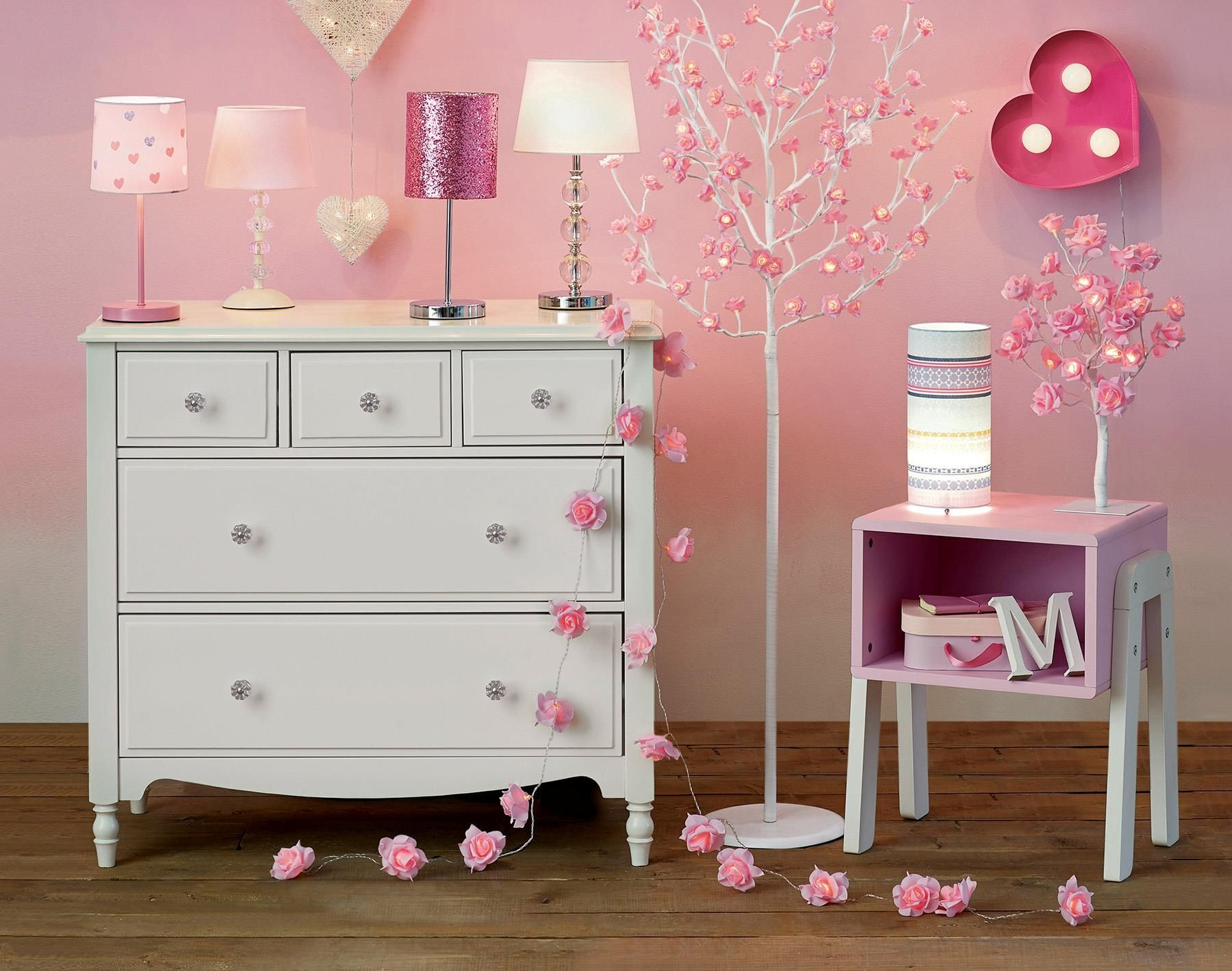 Buy Pink Rose Tree Lamp from the Next UK online shop | Easter DIY ...