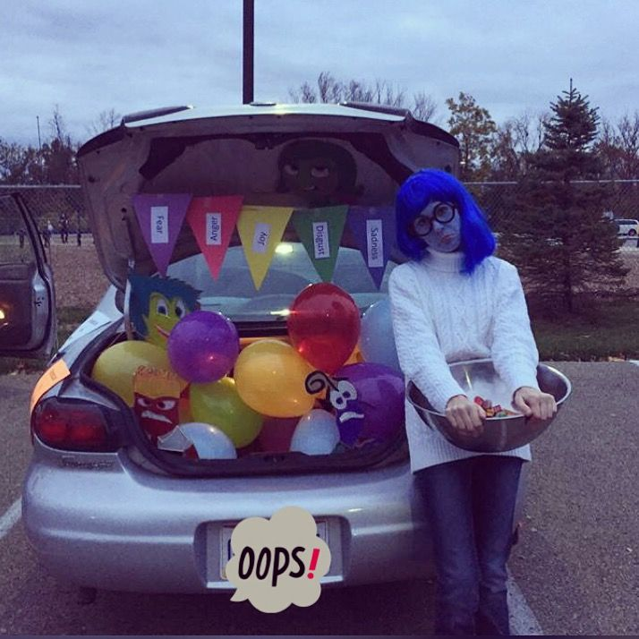Inside out trunk or treat idea. insideout sadness