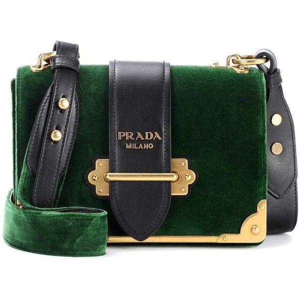 332281bd6 Prada Cahier Velvet Shoulder Bag (9.325 BRL) liked on Polyvore featuring  bags, handbags