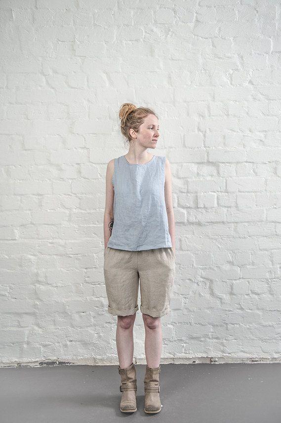 Short lin naturel / shorts femmes