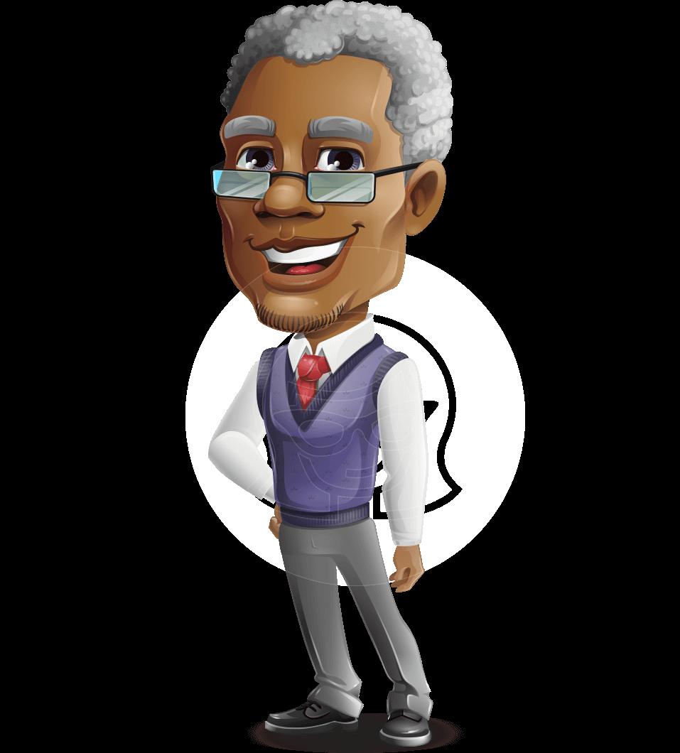 Elderly African American Man Cartoon Vector Character Graphicmama Vector Character Design Cartoons Vector African American Men