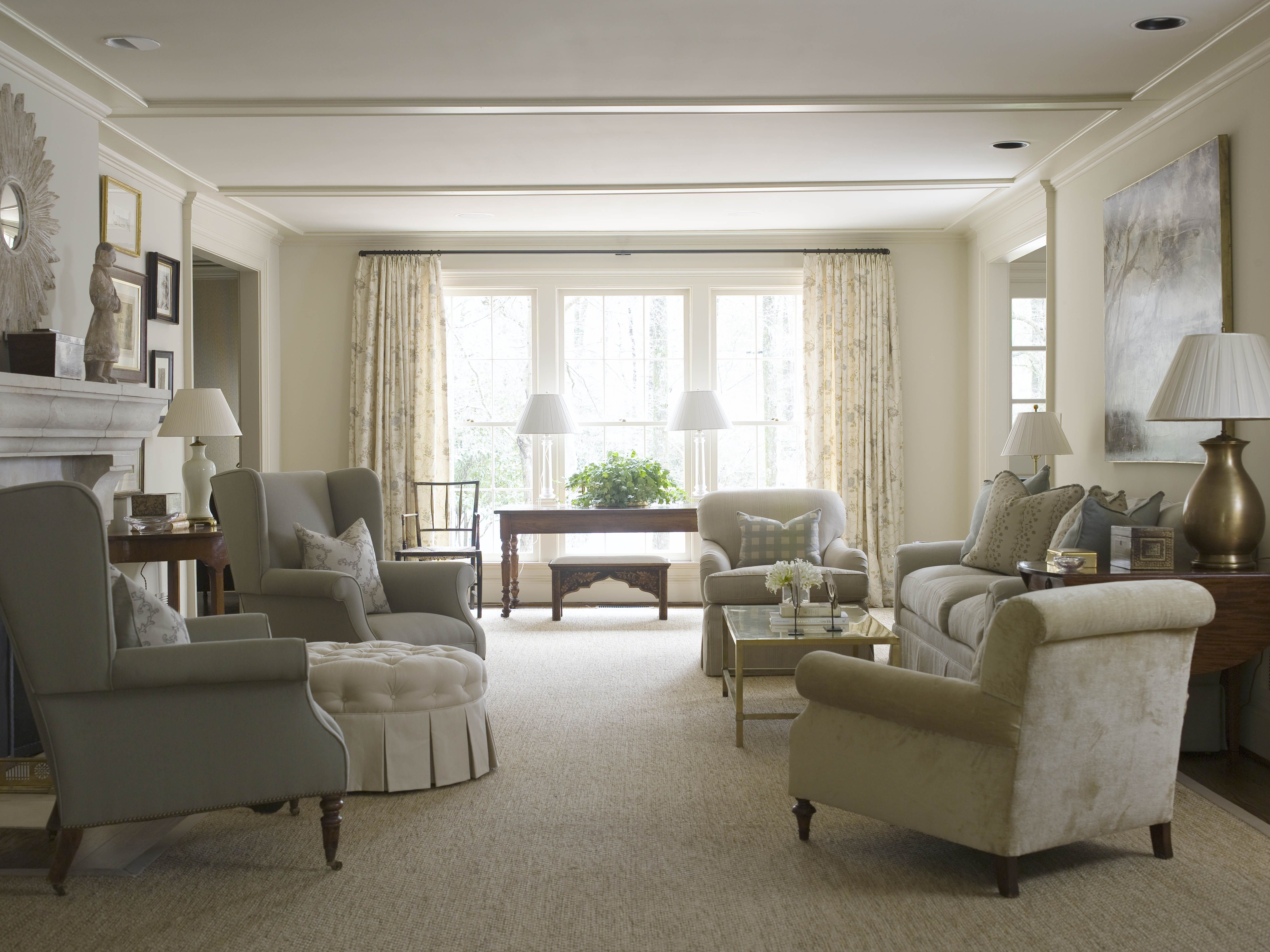 Make Ceiling Look Taller With Moldings  Just Removed Popcorn Amusing No Furniture Living Room 2018