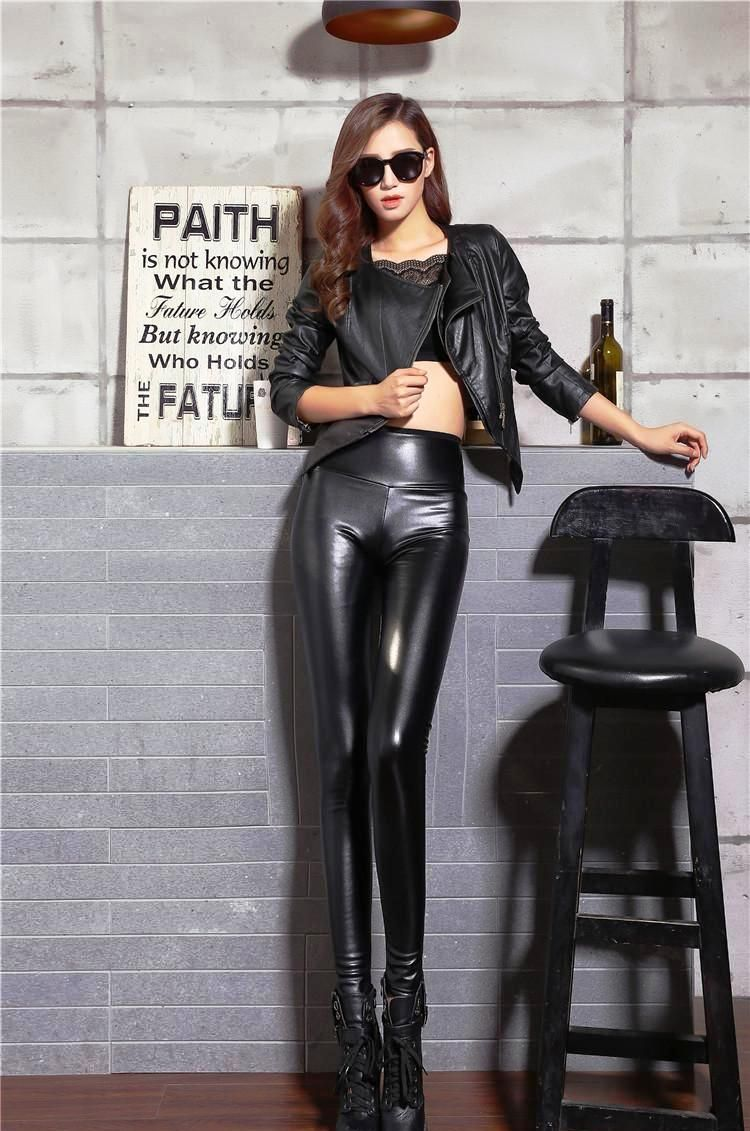 25 Stunning Leather Pants Outfits For Women To Try   Leggings ... 0459fcb904