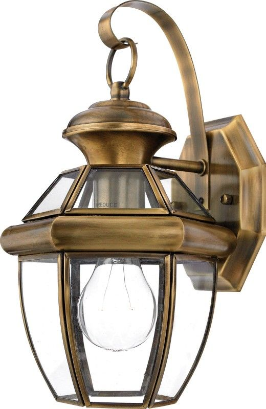 The Quoizel Traditional Antique Brass Outdoor Sconce Is Part Of The Newbury Collection Brass Outdoor Lighting Outdoor Wall Lantern Outdoor Sconces