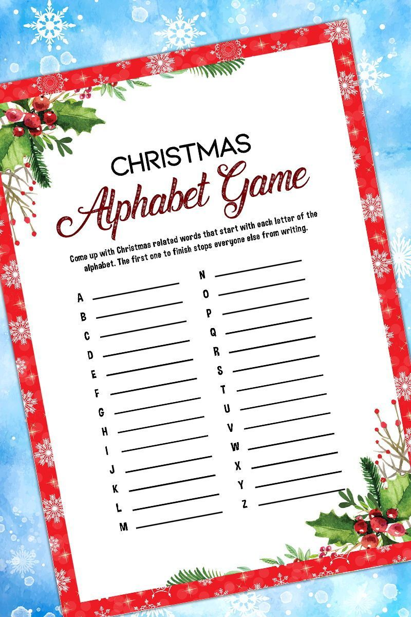Christmas Alphabet GameHoliday Party GamePrintable Christmas