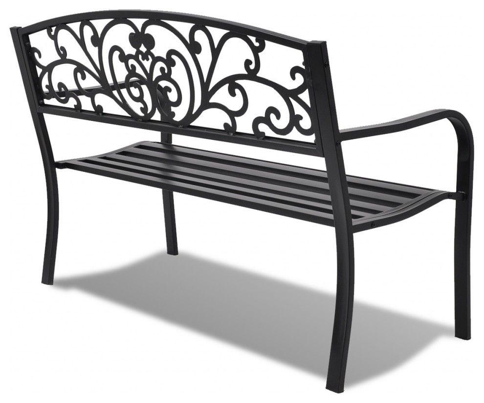 Vidaxl Garden Bench Black Cast Iron Bench Furniture Outdoor Decor