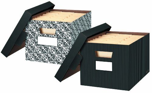 Bankers Box Store File Decorative File Storage 4 Pack 0029803 Decorative Storage Boxes Storage Boxes With Lids Decorative Storage Large decorative storage boxes with lids