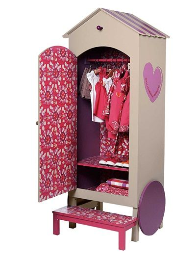 armoire penderie roulotte bensimon fille beige clair vertbaudet enfant mobilier pinterest. Black Bedroom Furniture Sets. Home Design Ideas