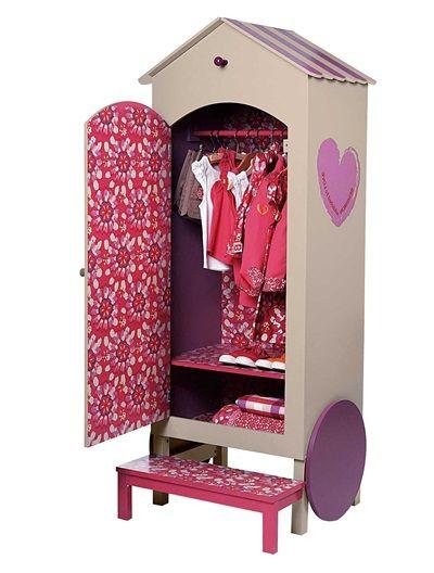 armoire penderie roulotte bensimon fille beige clair vertbaudet enfant mobilier pinterest. Black Bedroom Furniture Sets. Home Design Ideas