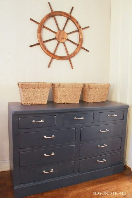 Migonis Home: Makeover: Navy Nautical Dresser