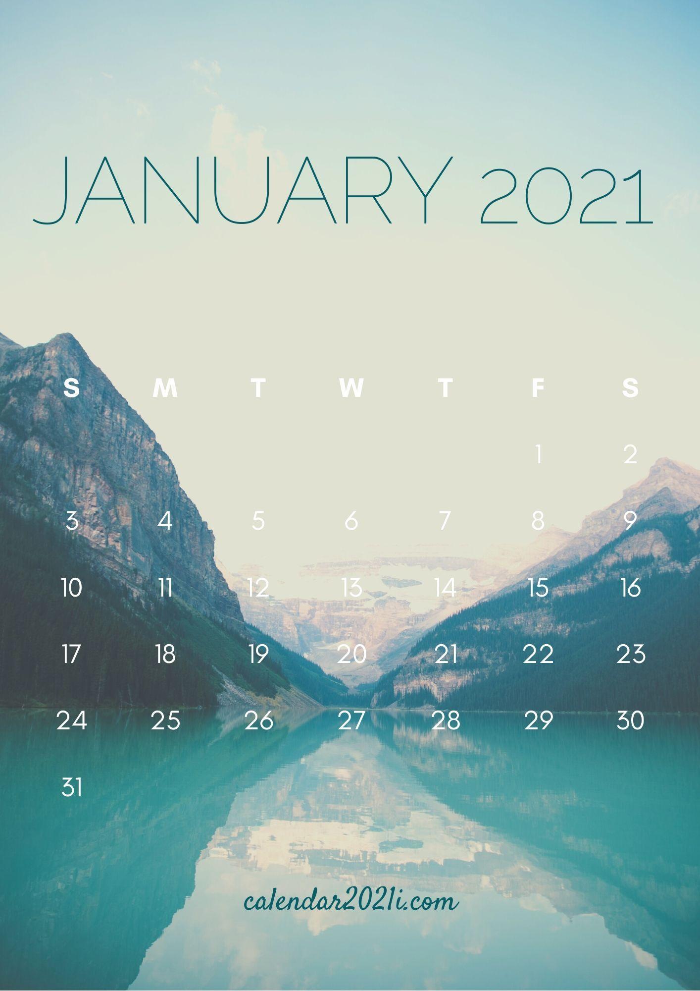 January 2021 Calendar iPhone HD Wallpaper for home screen
