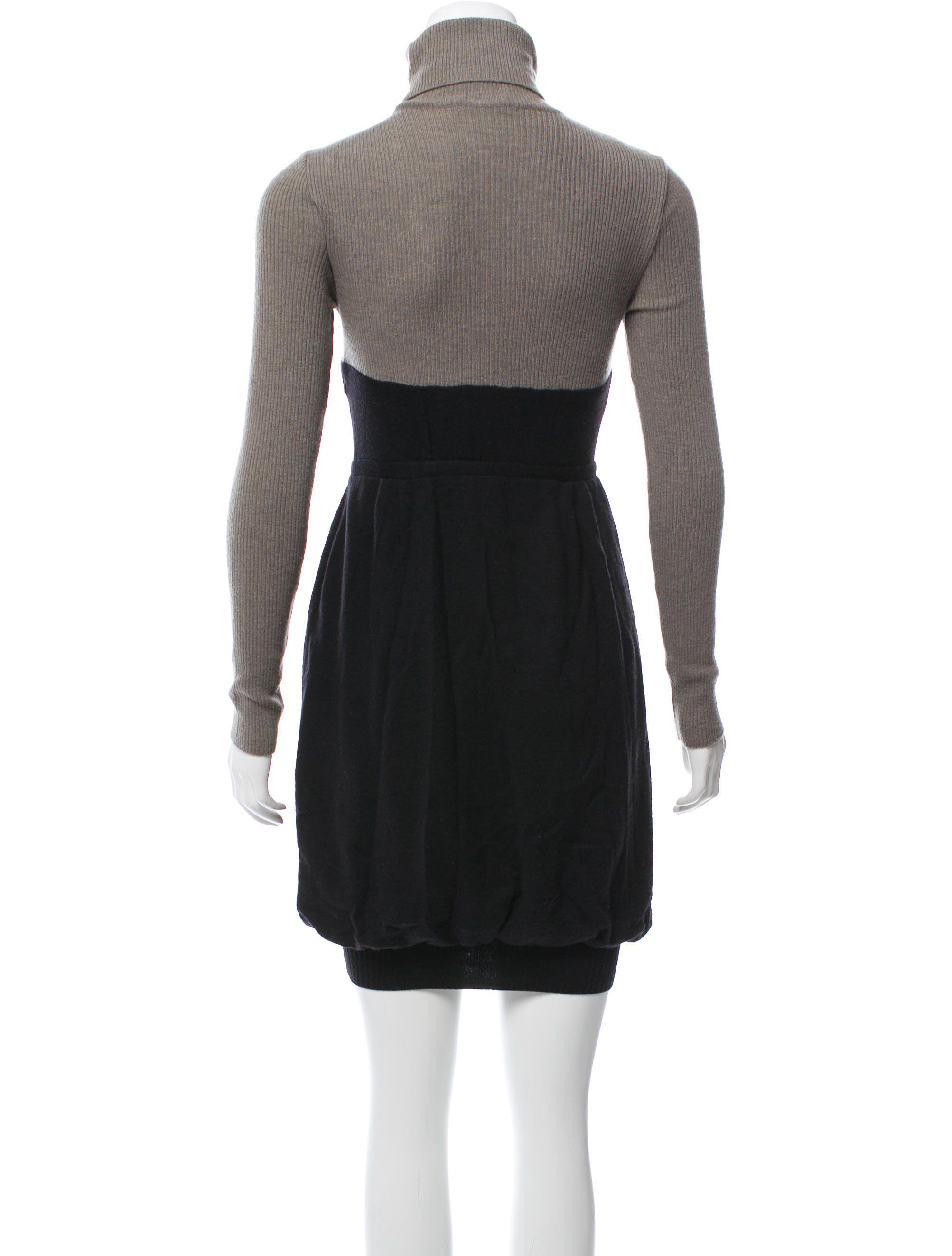 8f0574ecad5 Virgin Wool Turtleneck Dress in 2019 | Edgy Fashion Casual | Dresses ...
