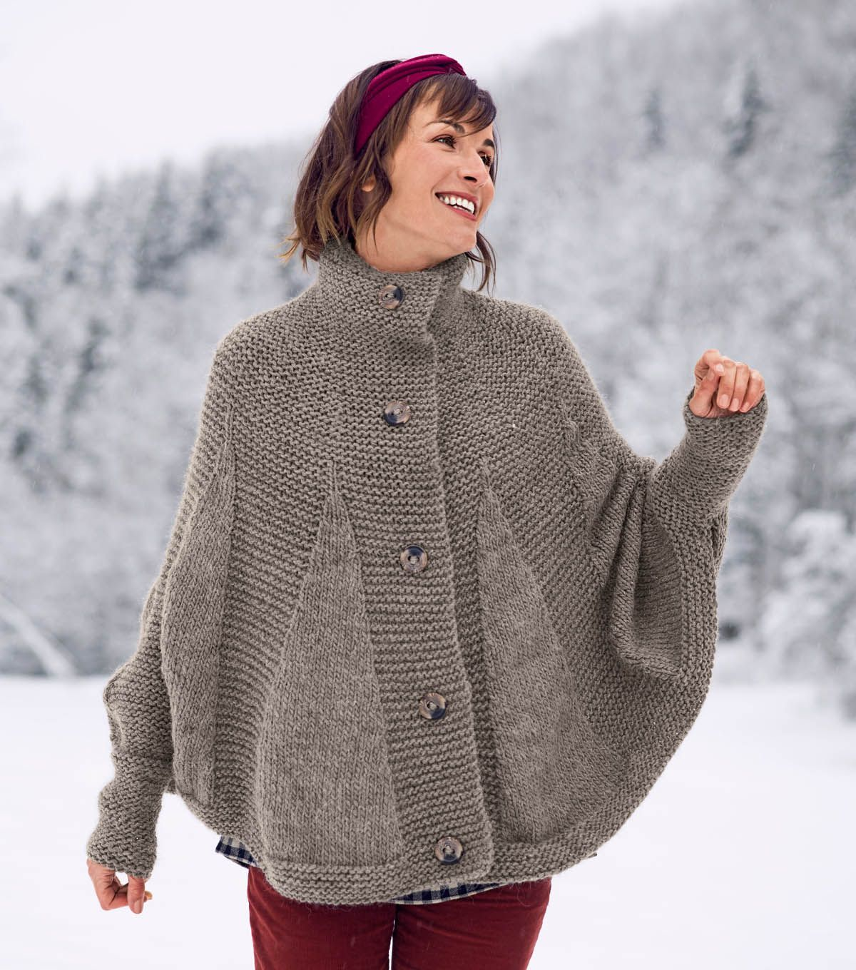 How To Knit a Poncho Cape, I\'d love to convert this into a crochet ...