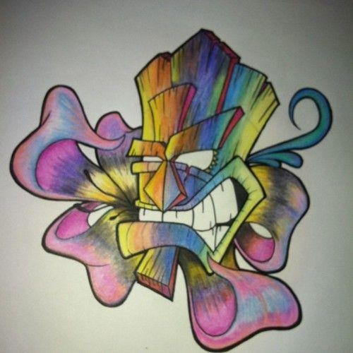 Haha crash bandicoot tiki mask art pinterest tattoo for Crash bandicoot tattoo