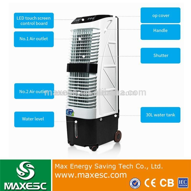 Portable Moving Vertical Evaporative Cooling Pad Water Air