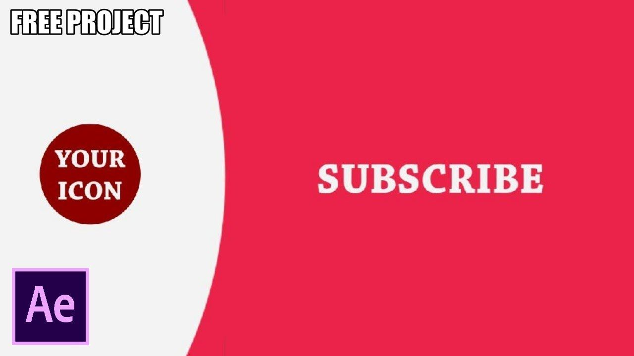 After Effects Tutorial Stylish Youtube End Screen Template Free Project After Effect Tutorial Template Free After Effects