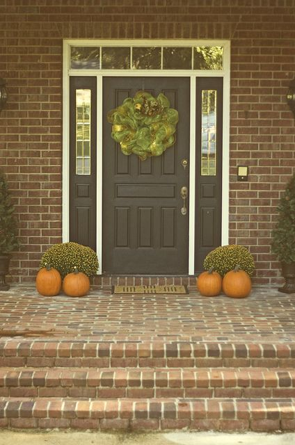Welcome house front door brown front doors house shutters - Front door colors for brick houses ...