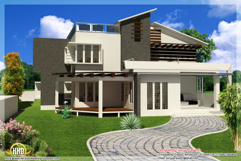 Contemporary Kerala Model Homes